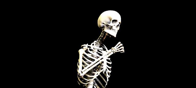 骨と運動|ランニングしているガイコツ